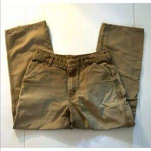 Carhartt B11 Men's Pants 34 x 30 Canvas Work